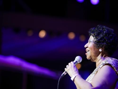 Aretha Franklin in performance