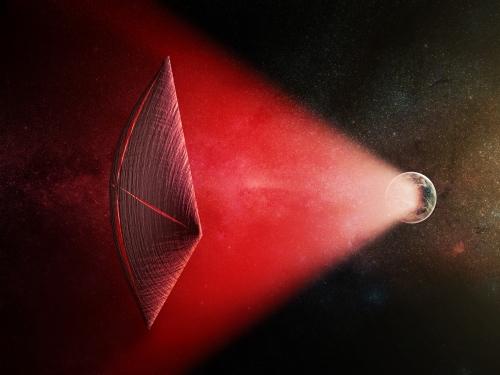 Artits image of radio beams