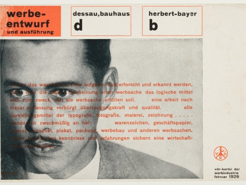 Herbert Bayer Bauhaus advertisement