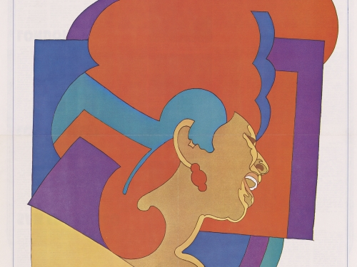 Colorful poster of Aretha Franklin