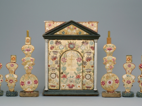 Tabernacle and candlesticks