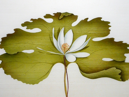 weaving of lotus leaf