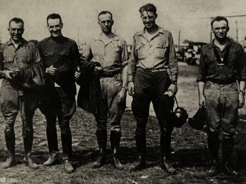 B&W photo of early pilots