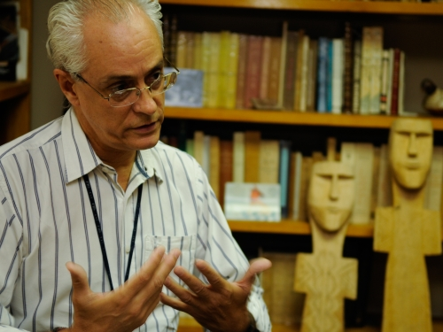 Anthropologist Fernando Santos-Granero in his office