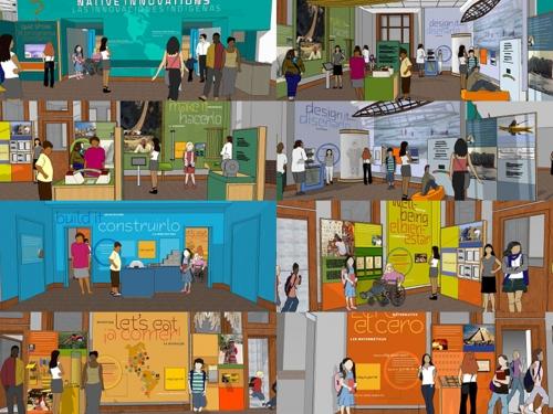 Artists rendering of ImagiNATIONS Gallery