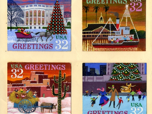 Christmas Holiday Commemorative Stamp
