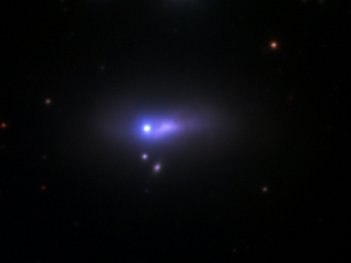 Telescope image of supernova