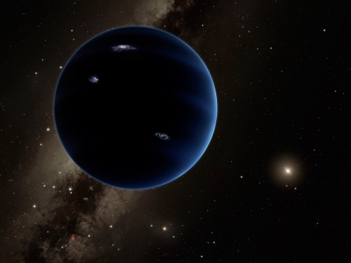 Planet nine in deep space