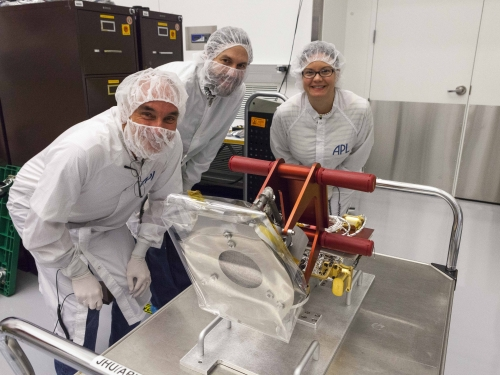 Getting ready to put the Solar Probe Cup (SPC) on the Parker Solar Prob