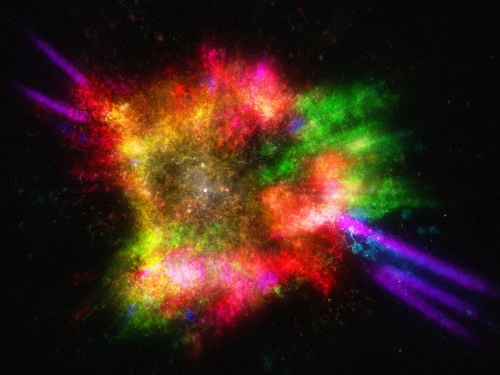 """""""Journey through an Exploded Star"""" 3D Interactive Experience"""