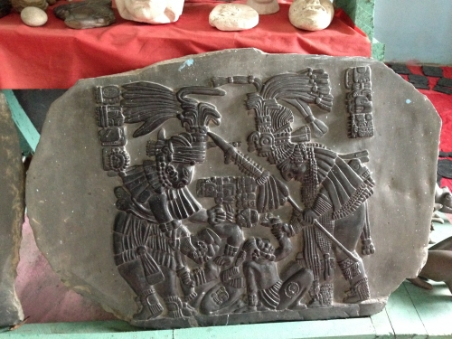 Slate carving