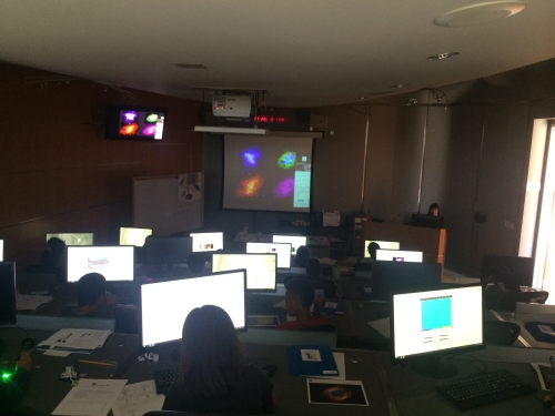 Classroom with kids using computers