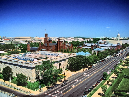 Aerial View of Smithsonian Quadrangle