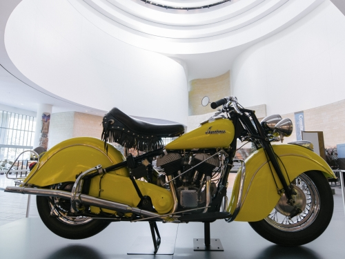 Yellow Indian motorcycle