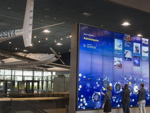 Interactive exhibit wall