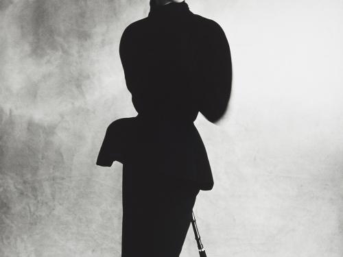 Irving Penn - Dior Black Suit (Tania), Paris | 1950 | gelatin silver print | Cop