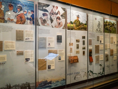 Photo of exhibit gallery wall