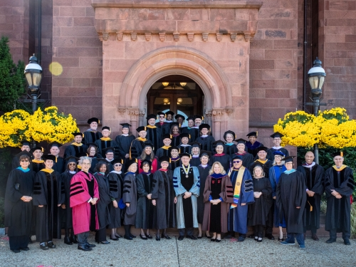 Academic Procession at the Installation of Secretary Bunch