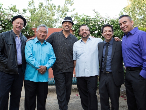 Promotional photo for John Santos Sextet