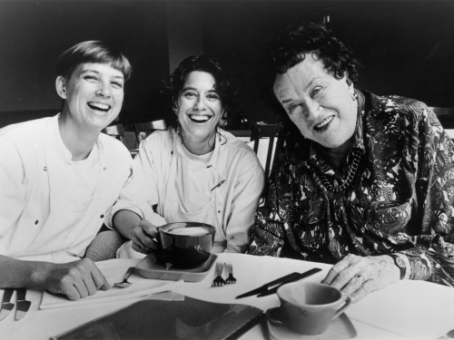 Mary Sue Milliken and Susan Feniger with Julia Child