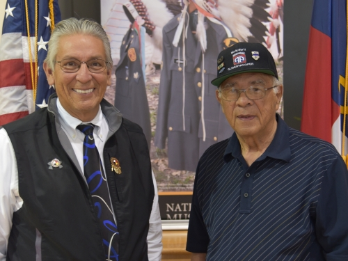Kevin Gover and WWII Veteran Jesse Edward Oxendine