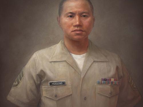Portrait of Hersons in uniform