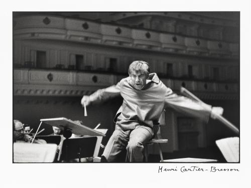 Leonard Bernstein conducting orchestra