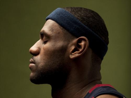 LeBron James in profile