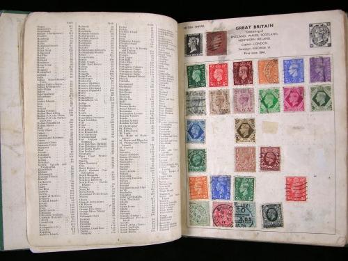 Open stamp album