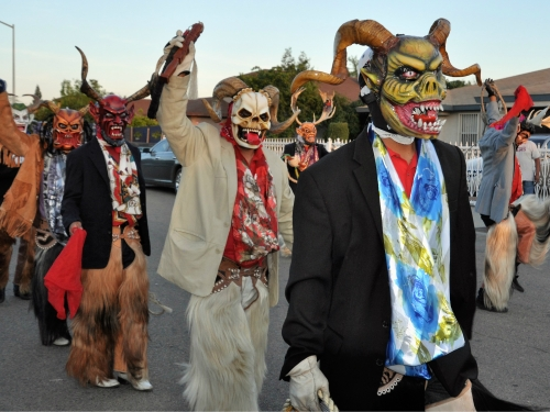 Dancers wearing masks