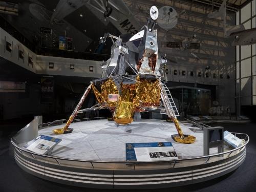 Lunar module on display