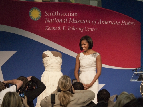Michelle Obama at the American History Museum