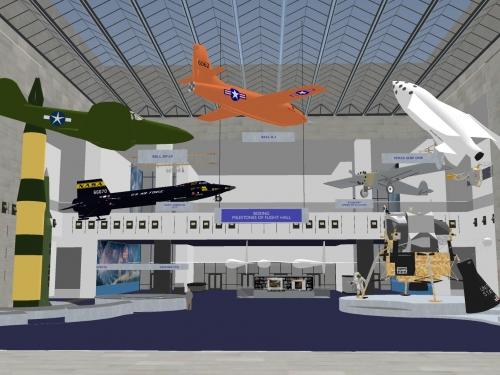 Artist rendering of changes to Milestones of Flight Hall