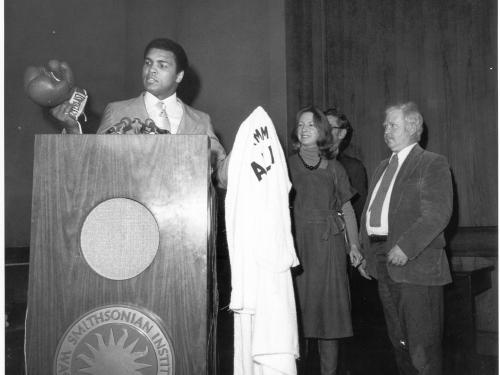 Ali at podium