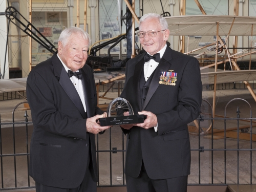 Joseph Sutter and museum director Gen. Jack Dailey