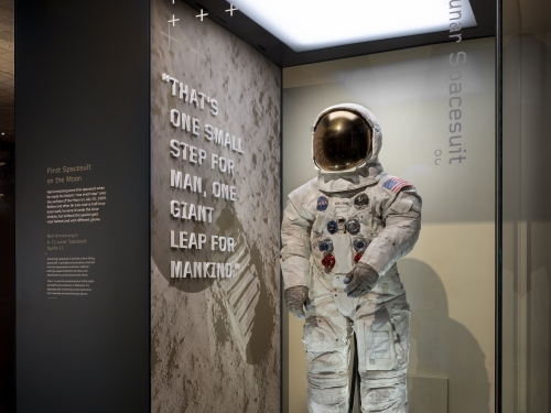 Armstrong Space Suit on Display