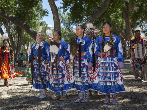 Women in native dress