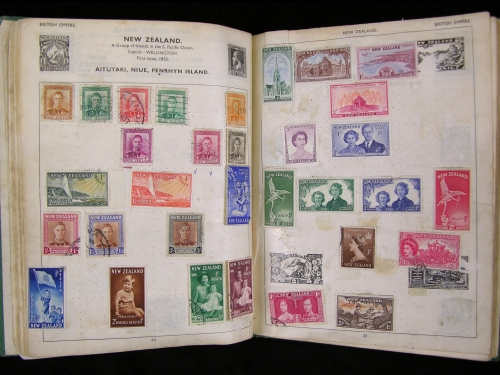 New Zealand page of stamp album