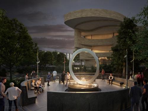 artist rendering of the memorial