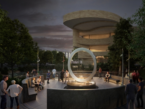 Artists rendering of Native American Veterans Memorial