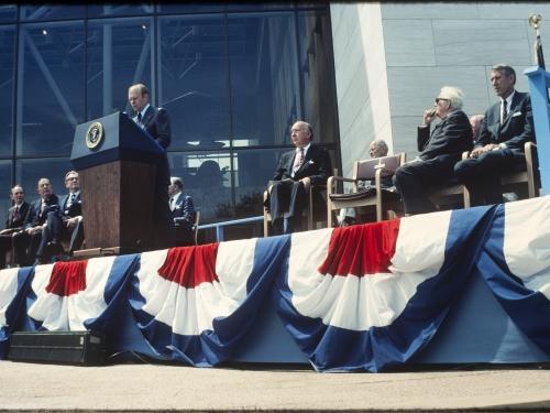Dignitaries at opening day ceremonies