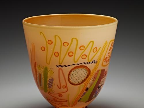 Blown glass vessel by Gordon-Pizzichillo