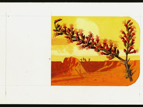 Stamp with desert plant