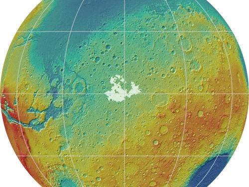 rendering of surface of Mars