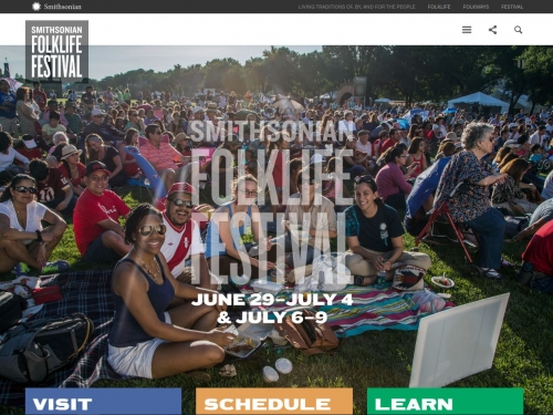 Screenshot of web site