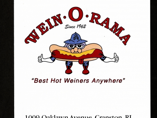 menu for Wein-o-rama restaurant