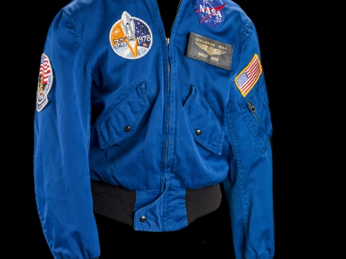 Blue flight jacket