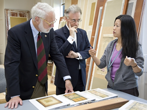 Secretary Clough Visiting Freer and Sackler Galleries
