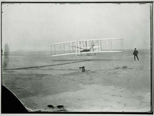 1903 Wright Flyer in Flight