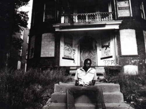 Man sitting on stoop
